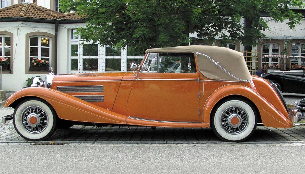 Mercedes-Cabrio-Oldimer-goldbraun